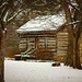 Log Cabin in the Snow  by cindymc