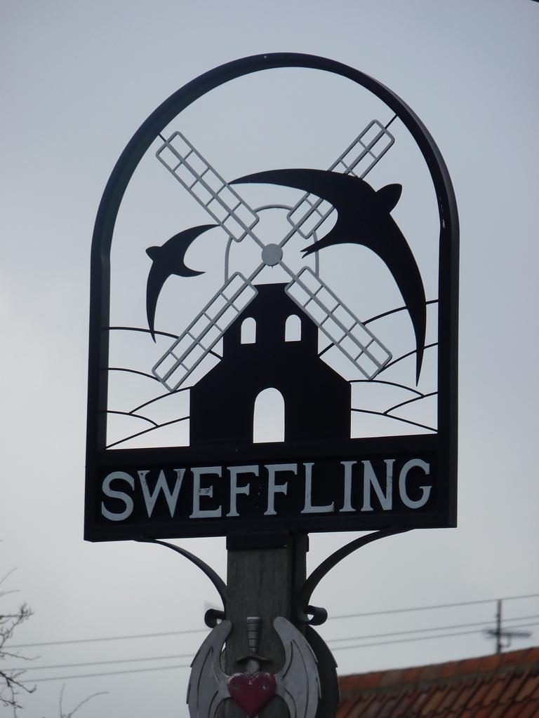Sweffling Village sign by lellie