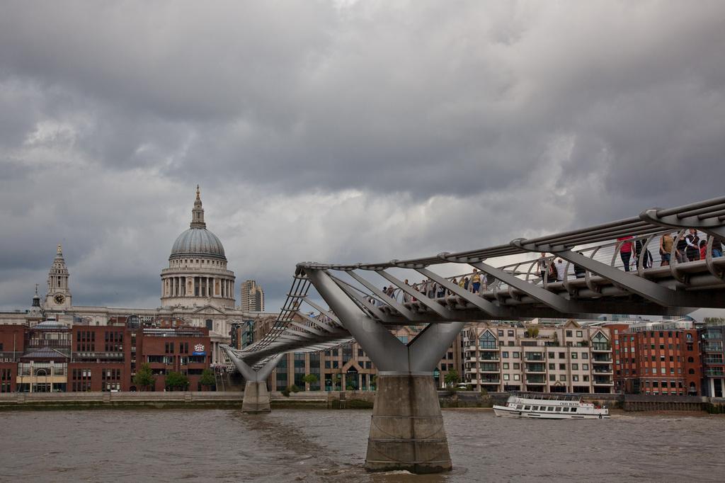 Millennium Bridge from the South Bank, London UK by netkonnexion