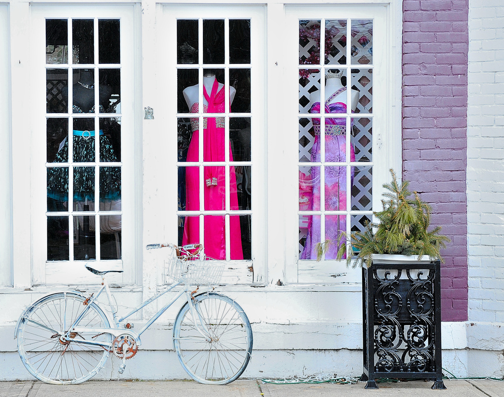 Bicycle Window Shopping by alophoto