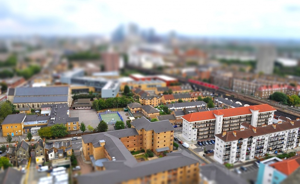 Tilt Shift Tower Hamlets by andycoleborn