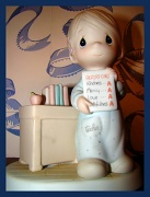 """12th Aug 2010 - """"Love Never Fails"""" (quote on bottom of figurine)"""