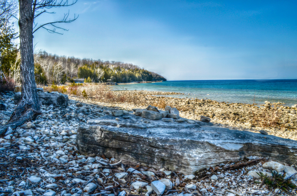 Beach at Door County Wisconsin by myhrhelper