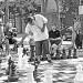 Street Chess in Westlake Plaza by seattle