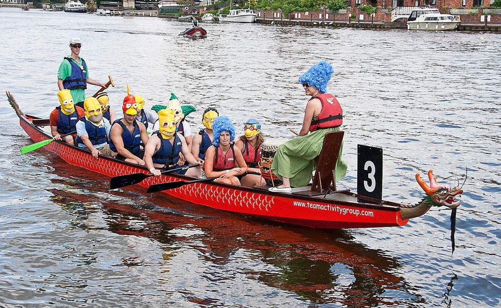 Simpsons Dragon Boat by netkonnexion