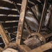 Inside a water wheel