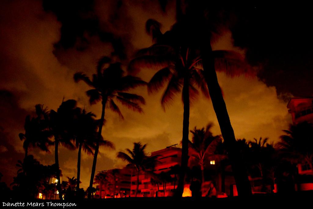 Deerfield Beach at night by danette