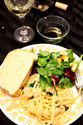 12th May 2013 - Shrimp Fettuccine with Spinach & Parmesan