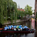 Umbrellas on the canal, Amersfoort, Holland by ivan