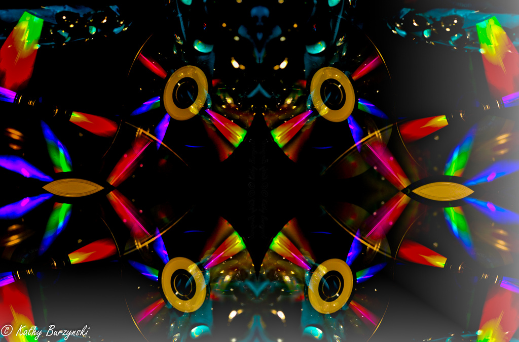 Abstract CD Reflections & Light - Get Pushed by myhrhelper