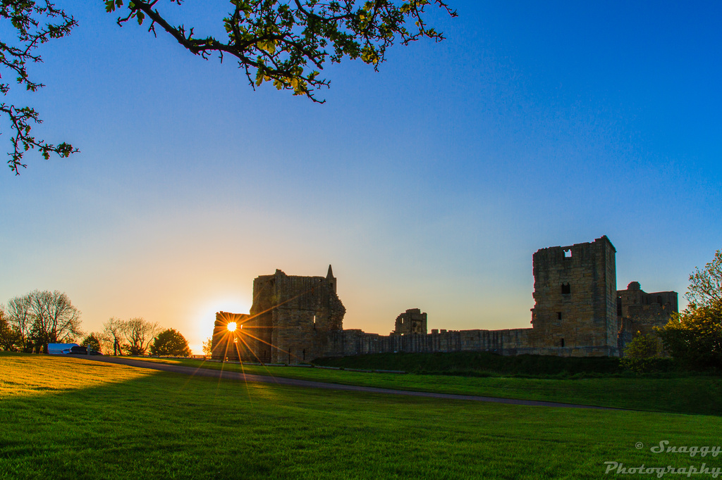 Day 152 - Sunset at Warkworth Castle by snaggy