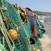 fishermen's nets on The Cobb, at Lyme Regis by quietpurplehaze