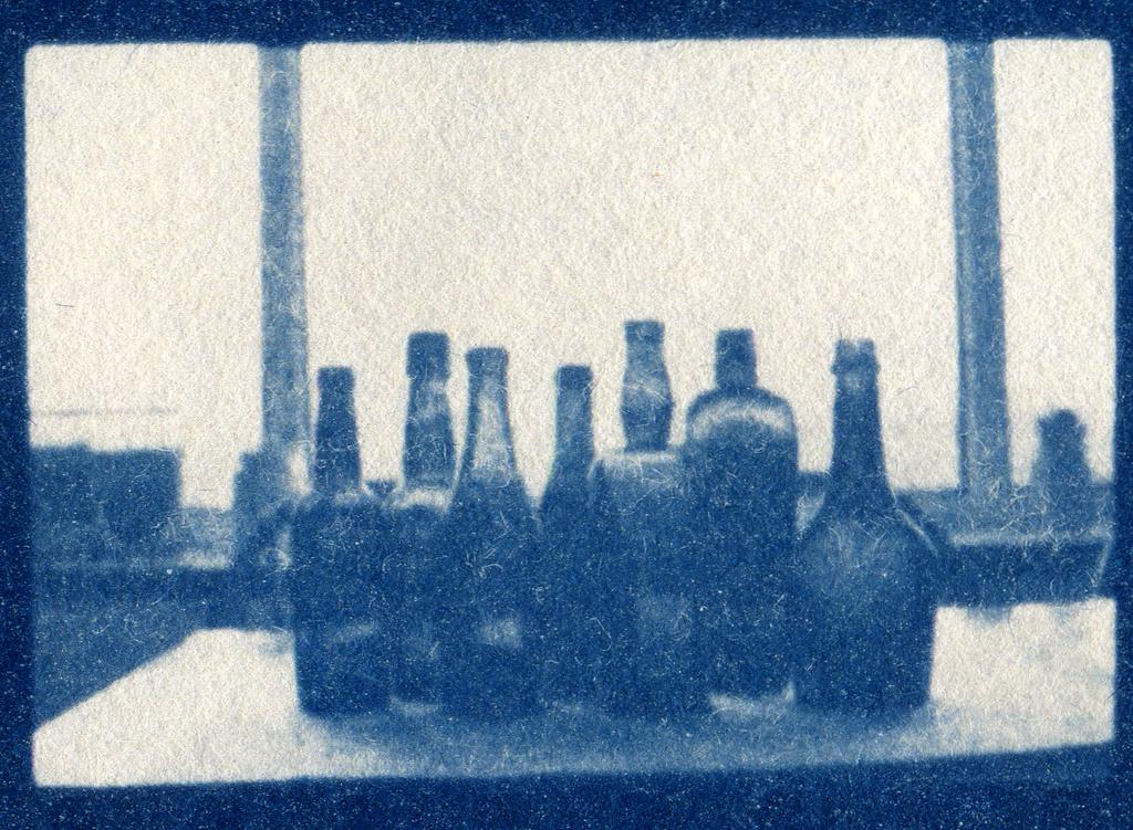 cyanotype  bottles by ingrid2101