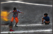 15th Jun 2013 - Street photo: playing football