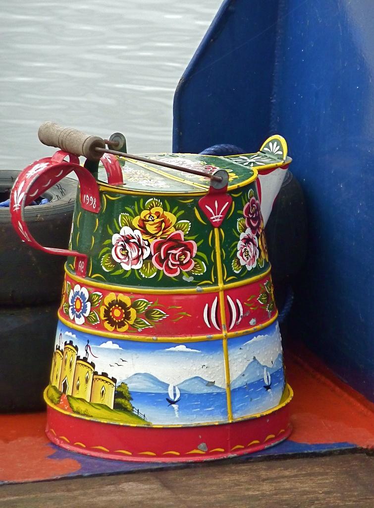 Folk Art Jug by helenmoss