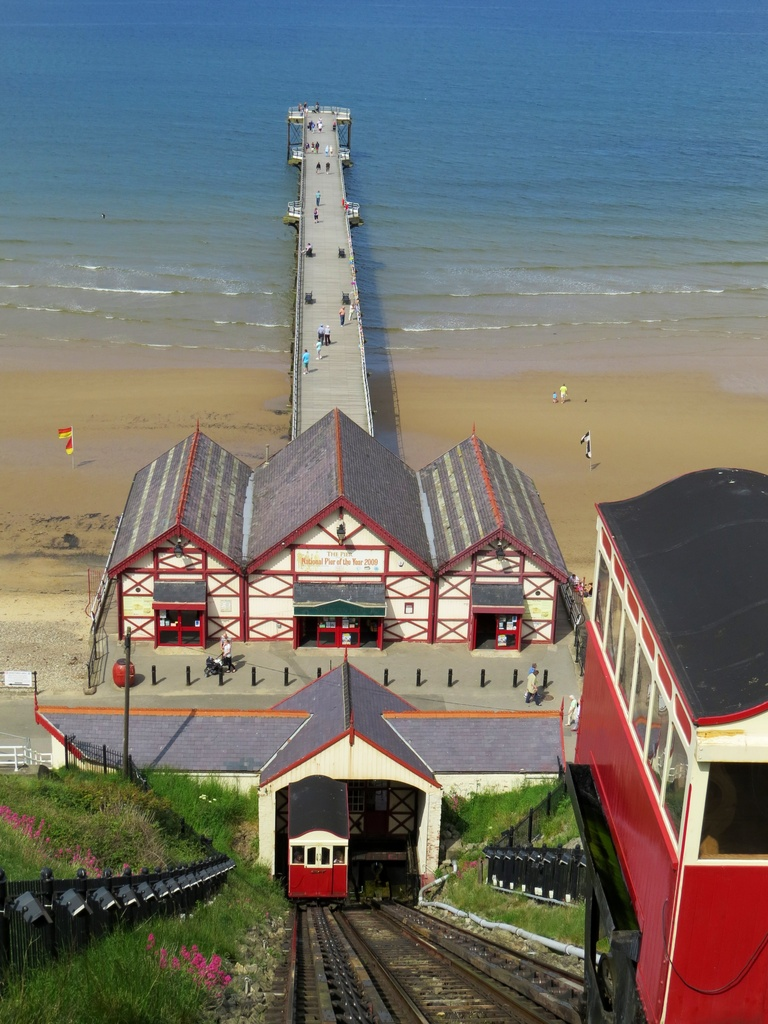 Saltburn Cliff Lift and Pier by craftymeg