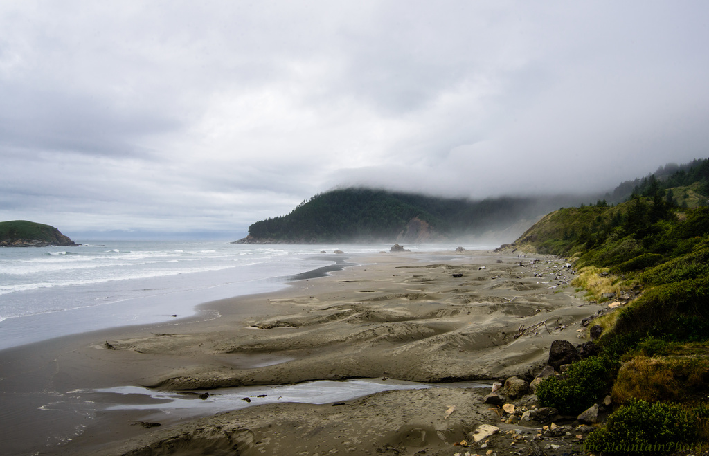 Looking Back Up the Coast Into the Fog  by jgpittenger