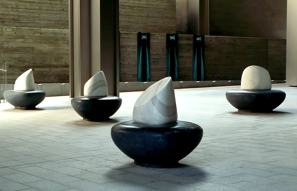 Mushroom seat sculptures...! by streats