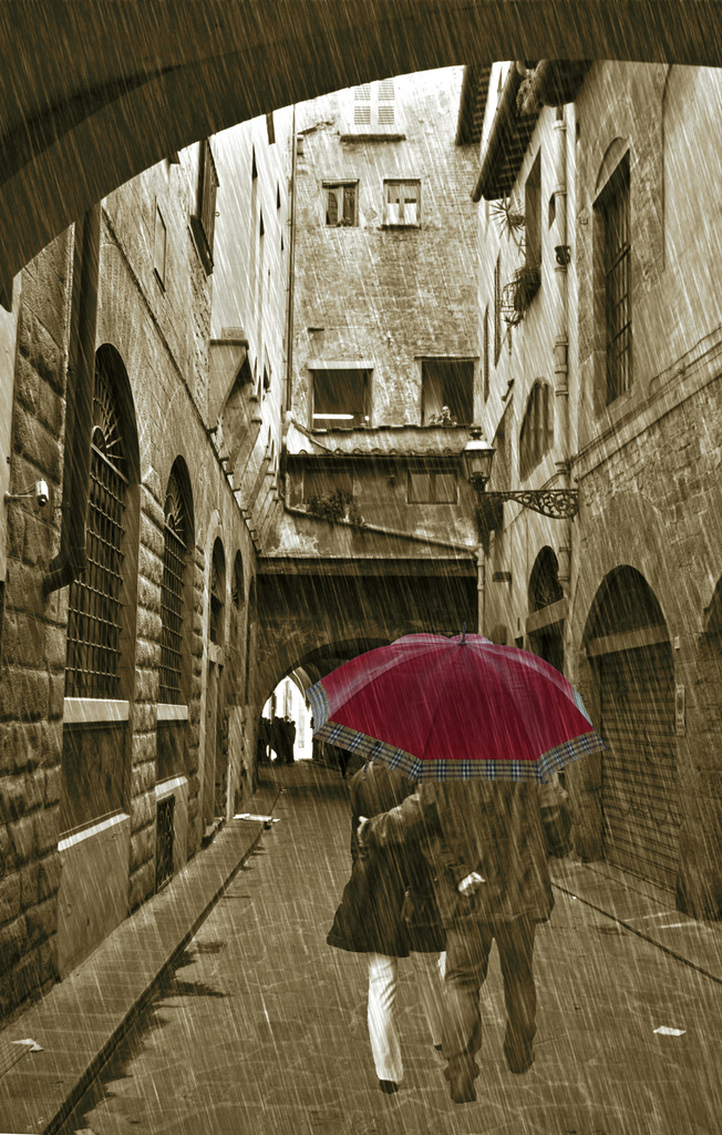 Rain Showers (Sepia version) by pdulis