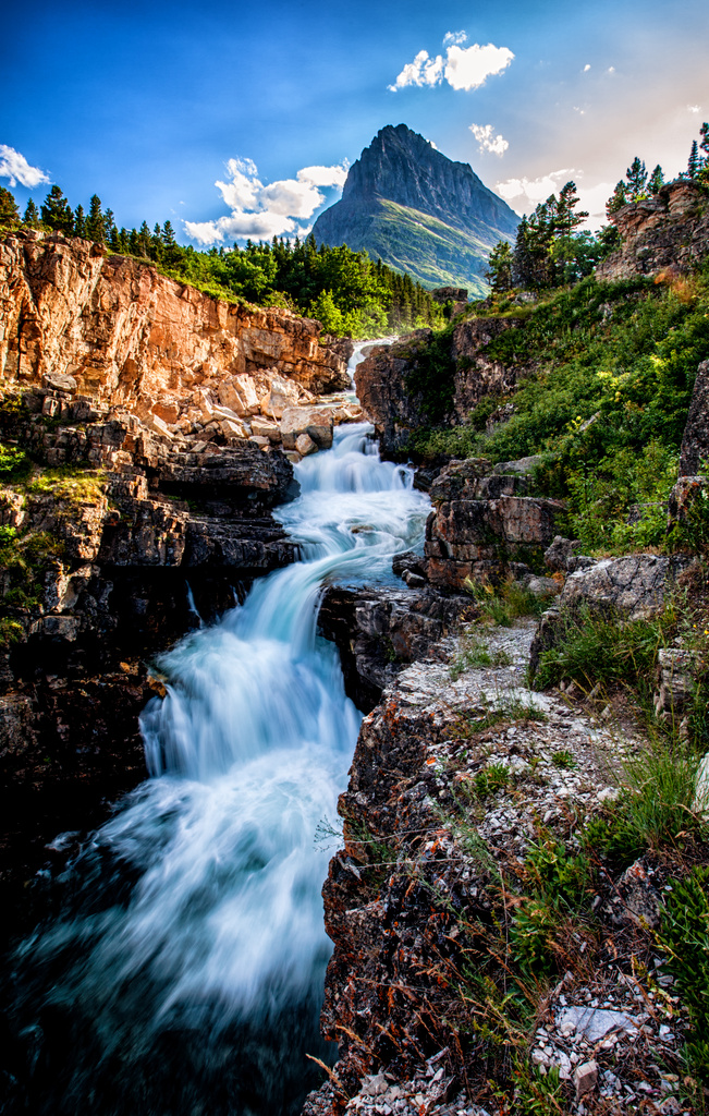 Swiftcurrent Falls by grizzlysghost