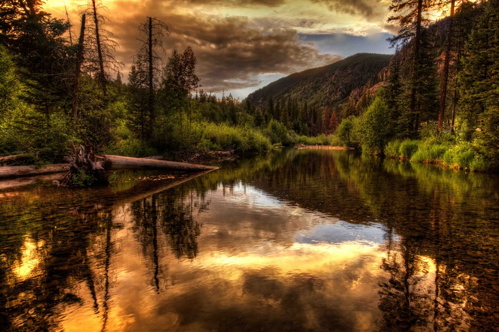 Sunset Along the River by exposure4u