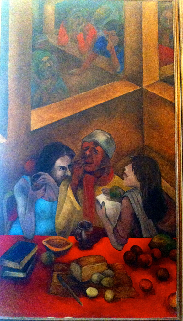 People in a bar-  Oils 1987 by veengupta