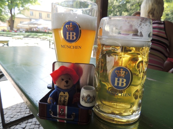 Paddington visits The Englischer Garten Munich by bizziebeeme
