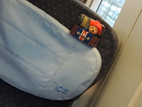 Paddington travels on Ice train.... by bizziebeeme