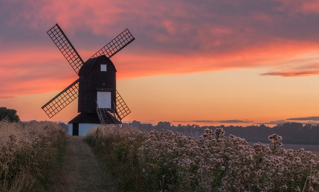 The mill at sunset in thistledown time by dulciknit