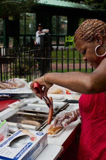 Hotdog Street Vendor by kannafoot