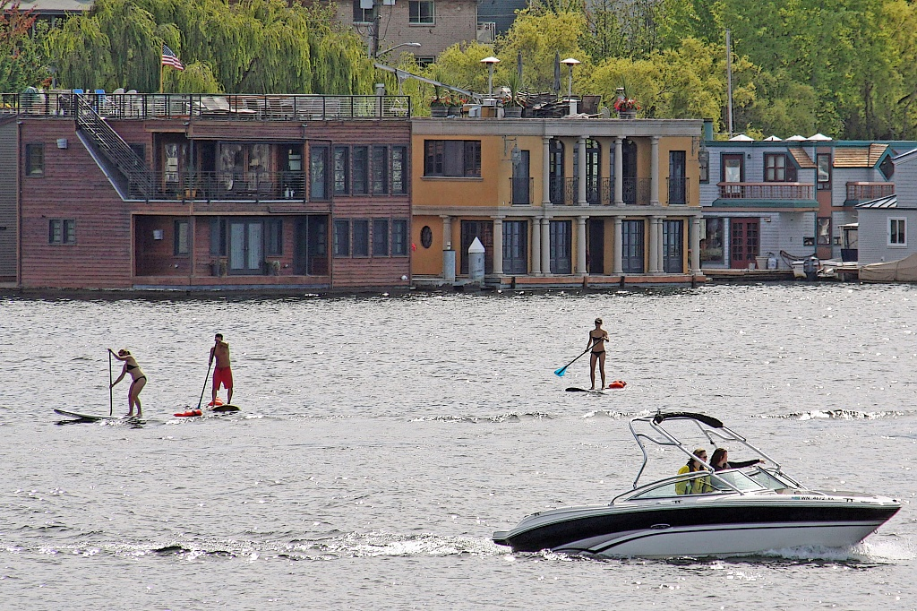 Stand-Up Paddleboard at Lake Union. by seattle