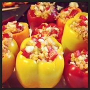 Stuffed vegan peppers  on 365 Project