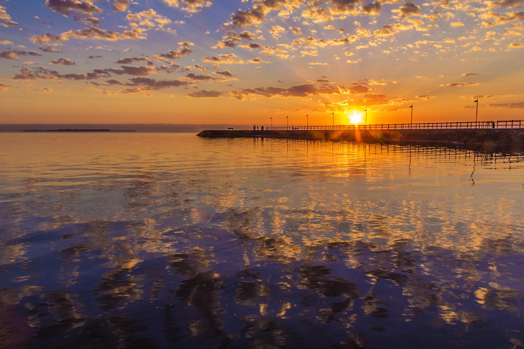 Jetty reflections by corymbia