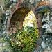 Flints, bricks and shrubs by ivan