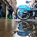 Bikes and puddle by boxplayer