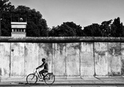 5th Oct 2013 - Cycling past the wall