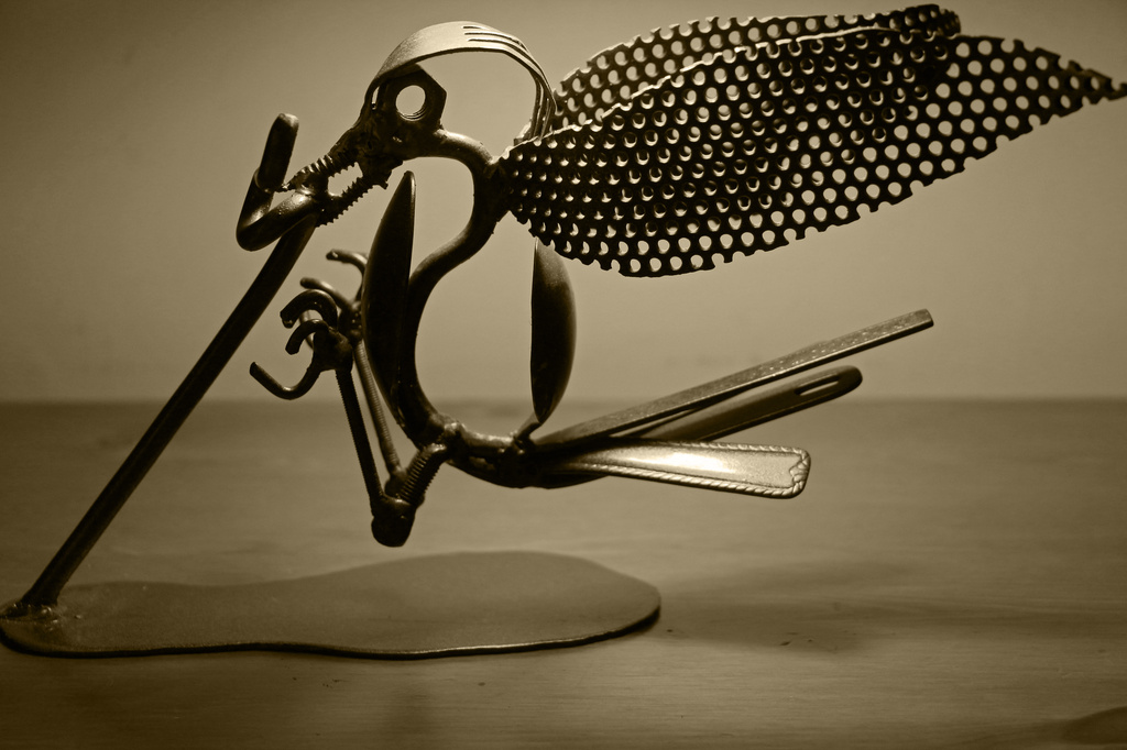 Cutlery Bird by shepherdmanswife