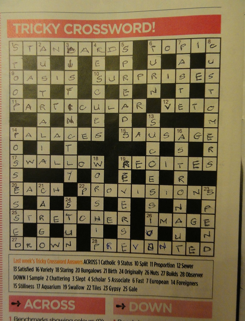 Crossword by beryl