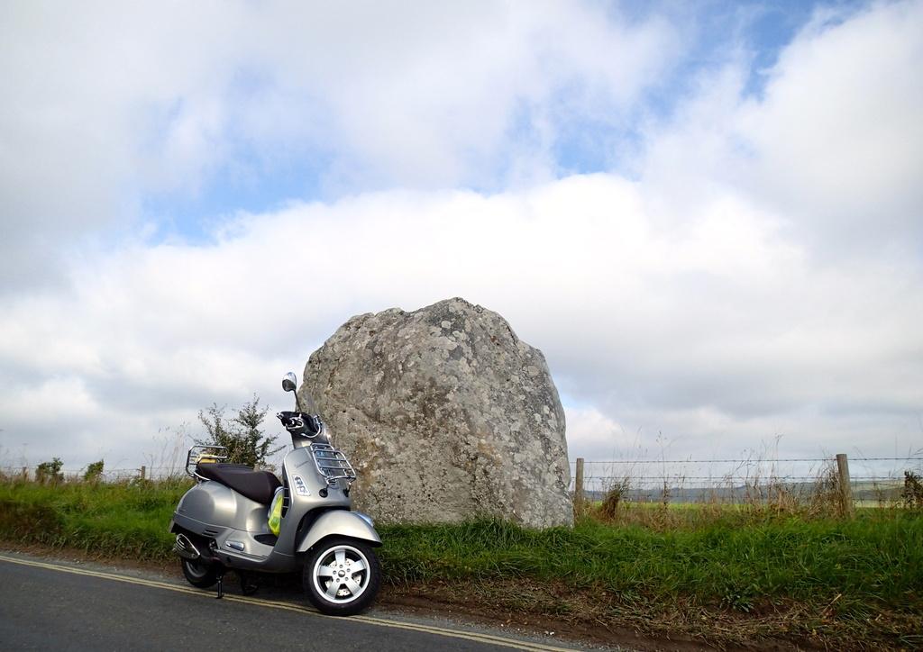 My new Vespa visits Avebury standing stones by lbmcshutter