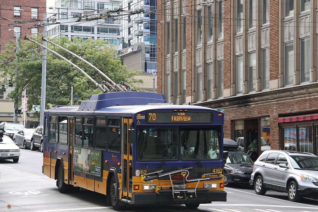 "Trolleybus in Seattle  ""Technology that has made a difference."" by seattle"