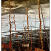 Masts and red boat by ivan