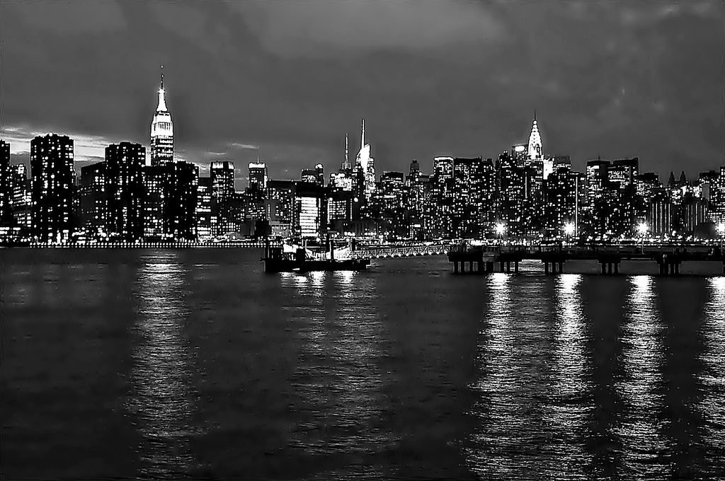 Midtown and the East River at dusk  by soboy5