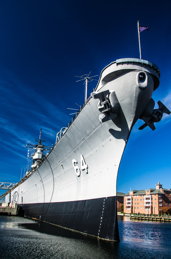 Battleship Wisconsin: Berthed in Norfolk the Homeport of Naval History by kathyladley