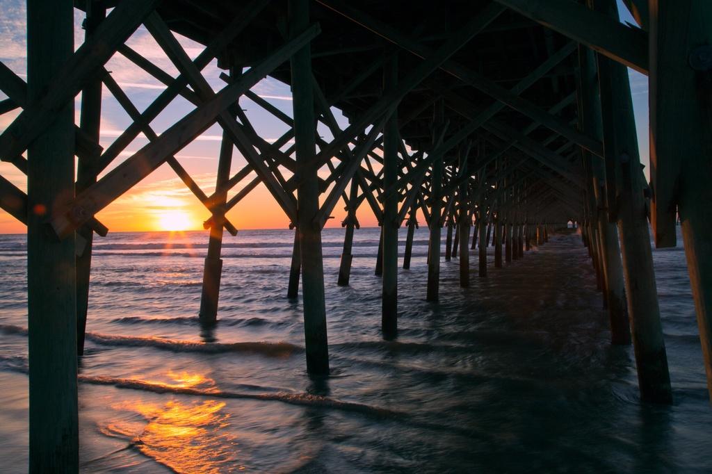 Folly Beach sunrise by riverlandphotos