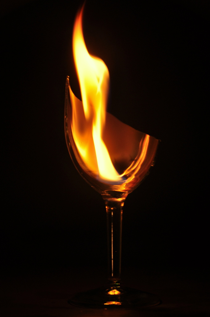 Broken Glass on Fire by jayberg