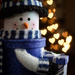 Blue Snowman by aecasey