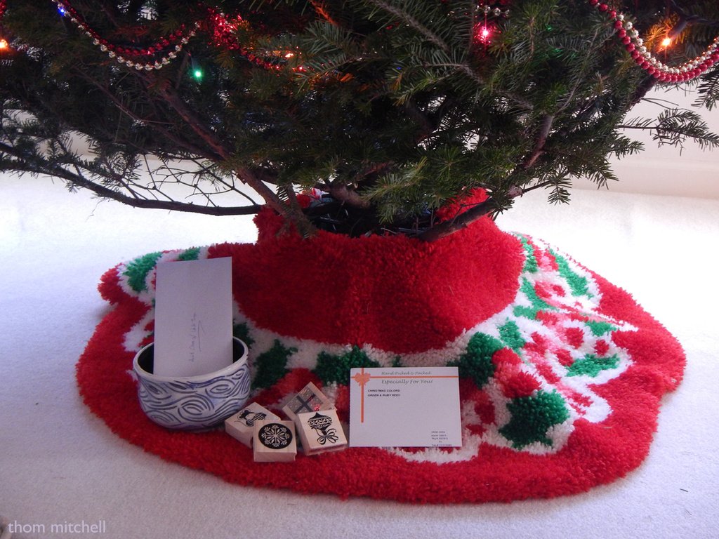 Christmas tree skirt by rhoing