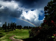 19th Dec 2013 - Rainbow and Clouds on the Golf Course