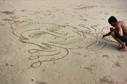 13th Dec 2013 - A line or two in the sand...