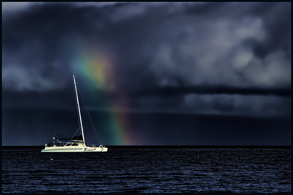 Rainbow in the Bay by taffy